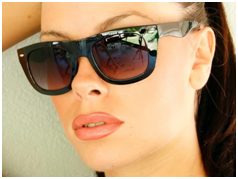 Wayfarer Sunglasses - Woman Wearing Wayfarer Sunglasses