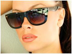 Wayfarer Sunglasses - Woman Wearing Wayfarer Sunglasses