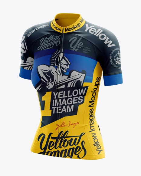 Download Women's Cycling Jersey PSD Mockup Halfside View | PSD ...