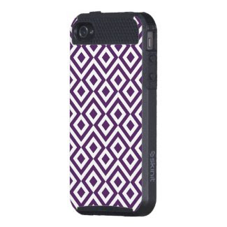 Purple and White Meander iPhone 4/4S Cover
