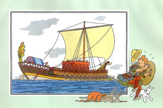reconstitution d'un dromon byzantin
