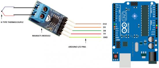 arduino max6675 thermocouple