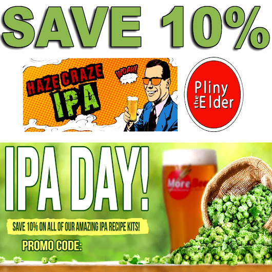 Save 10% On IPA Recipe Kits at MoreBeer.com With Promo Code - Homebrewing - Home Brewers Blog