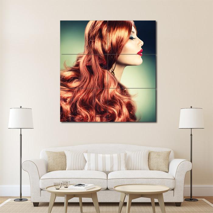 Lange Wellige Haare Frisuren Friseursalon Riesenposter