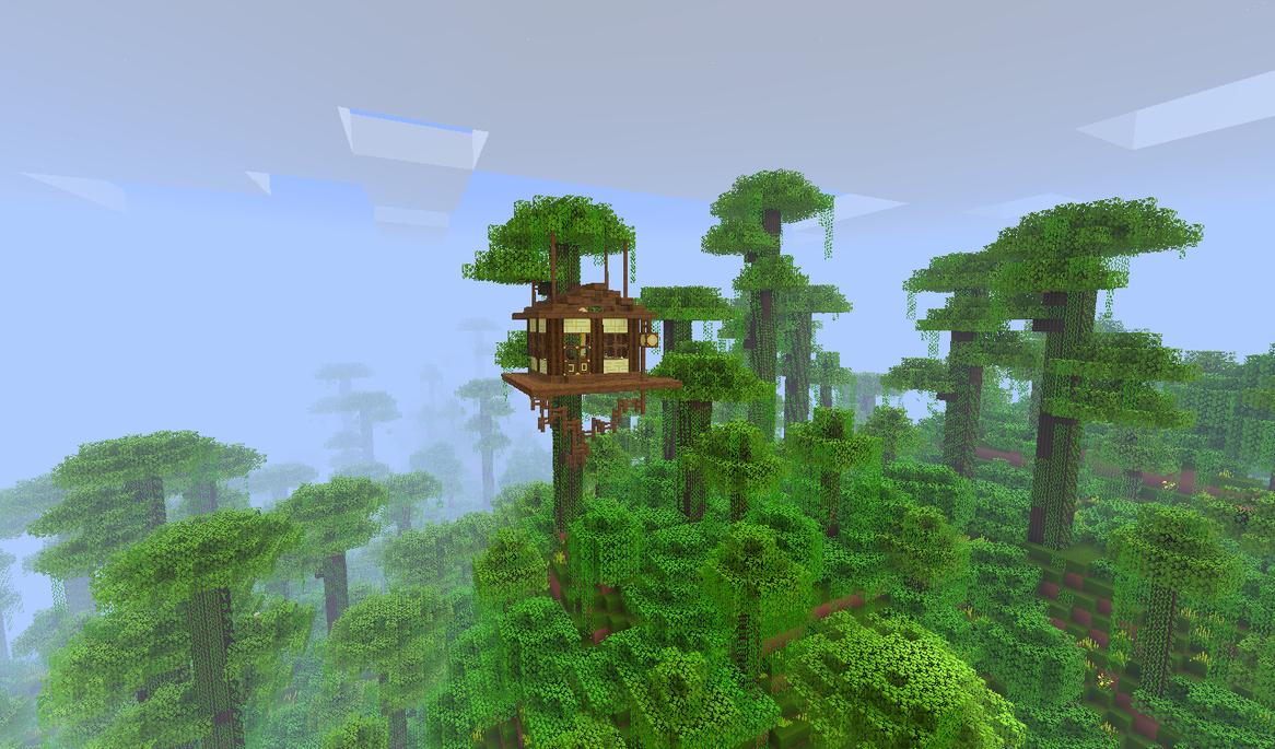 Minecraft Jungle Treehouse by qaau74E on DeviantArt