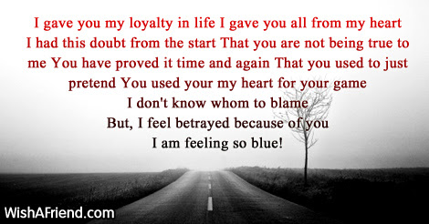 Betrayal Poems