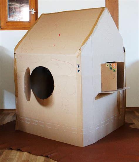diy spielhaus kartonhaus selbermachen anleitung
