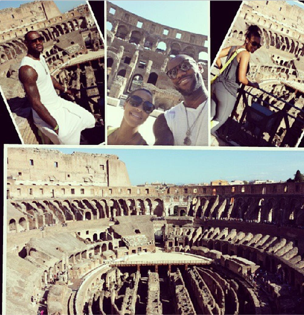 They went to Italy for their honeymoon.
