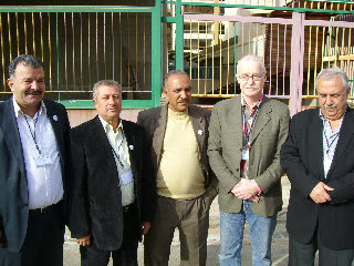 Lasse Wilhelmson with leaders for different Palestinian organisations from the refugee camps in Lebanon.