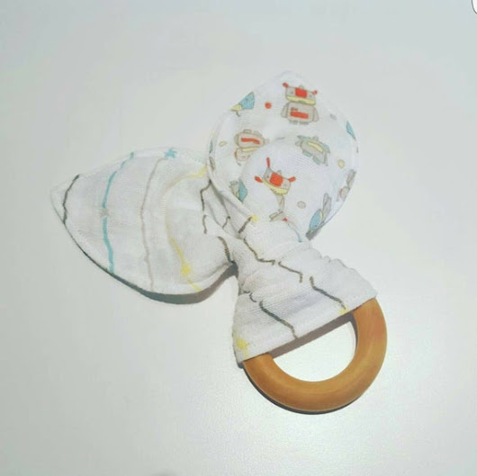Aden  Anais muslin wrapped wooden teething by RepurposedThread