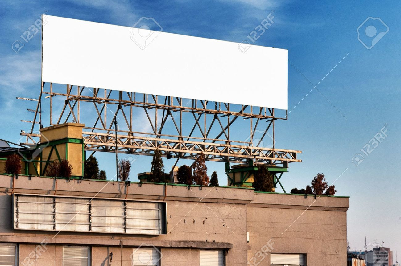 Blank Billboard On The Building Stock Photo, Picture And Royalty ...