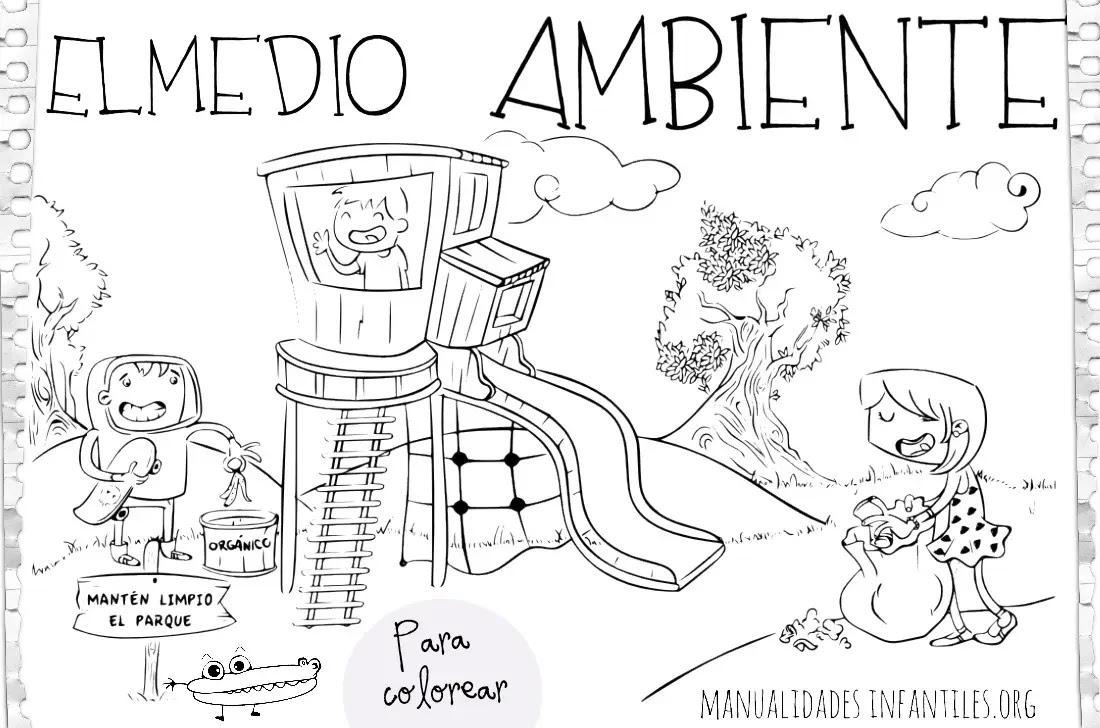 Dibujos Del Medio Ambiente Actividades Para Niños Manualidades