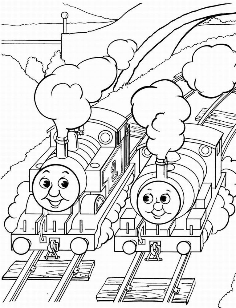 Free Thomas Coloring Pages At Getcoloringscom Free Printable
