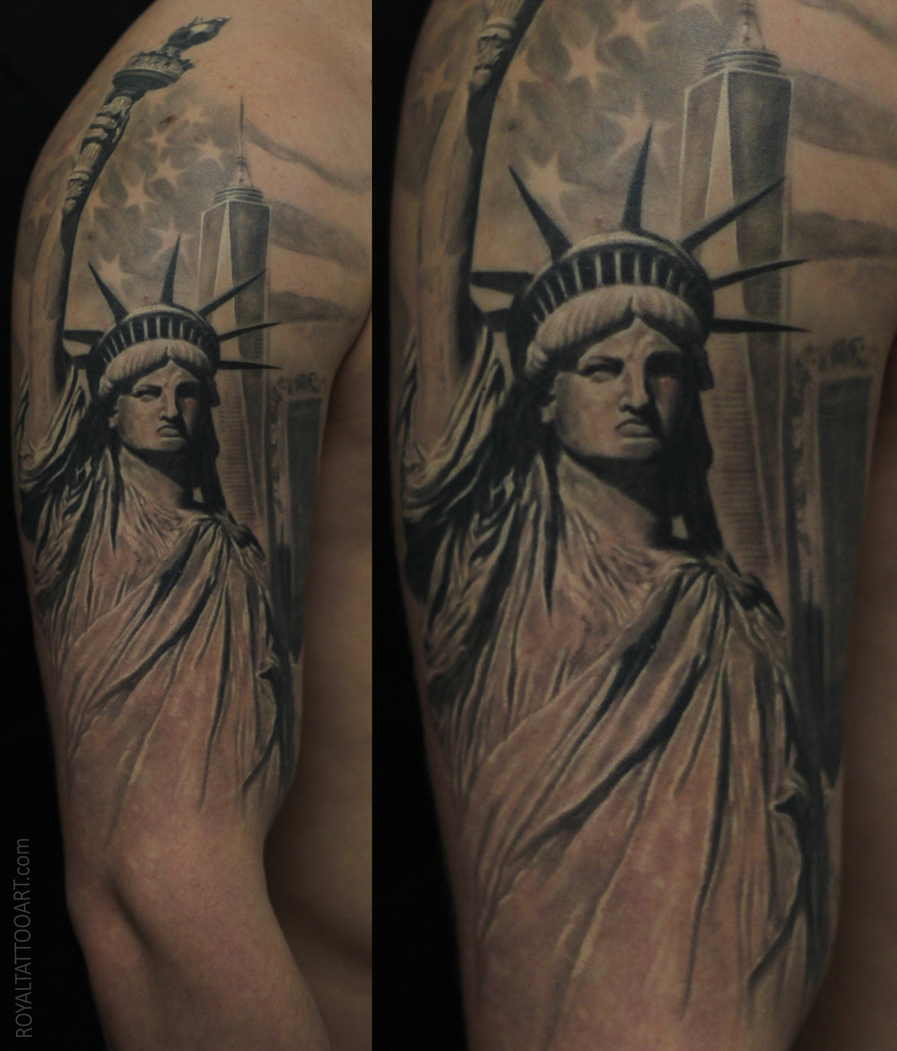 Half Sleeve Statue Of Liberty Tattoo Parryzcom