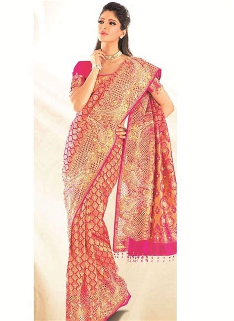 Magenta Embroidered Kanchipuram Silk Saree   hindu