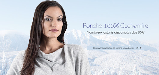 Poncho, poncho cachemire d'inspiration poncho mexicain