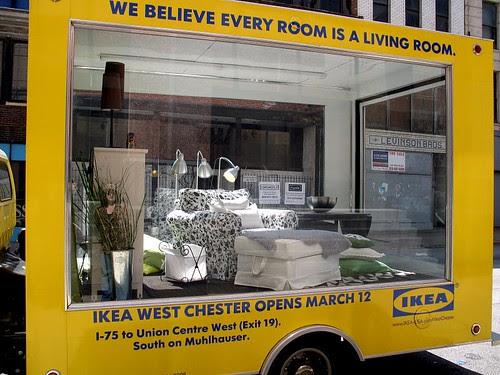 Ikea rolling showroom