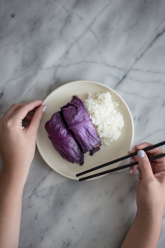 Asian Stuffed Red Cabbage