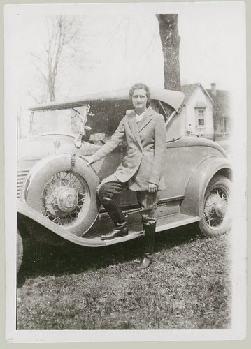 Woman, Jodhpurs and Car