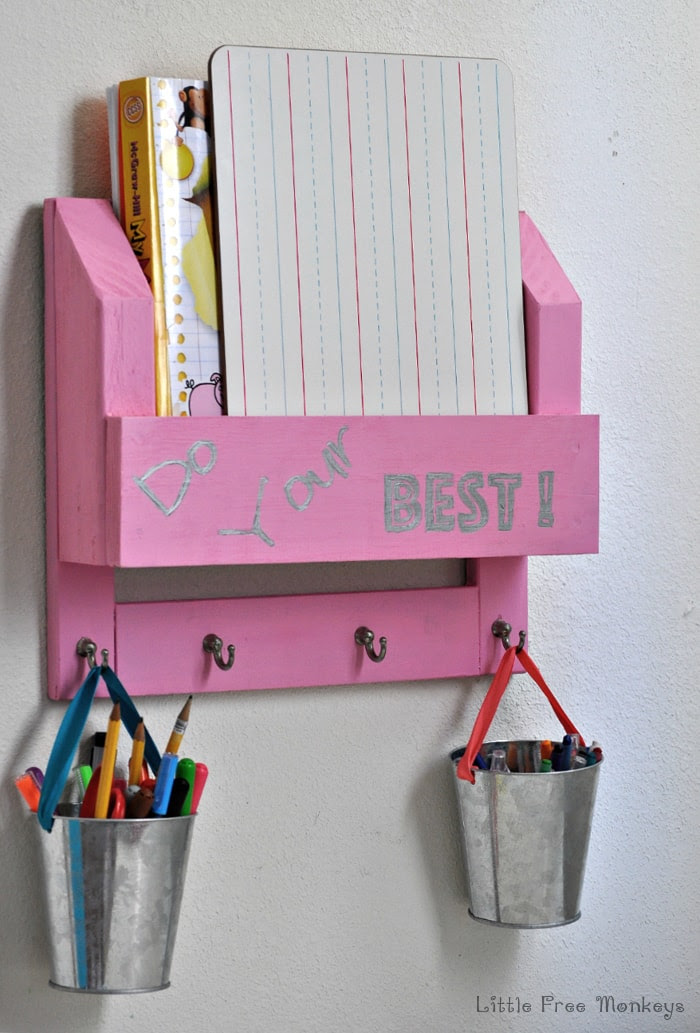DIY Desk Organizer and Homework station // Anika's DIY Life