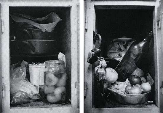 """Korniss Péter, A Fővárosi Gázművek Munkásszállása, 1979 (""""A vendégmunkás"""" fotóalbumból)"""