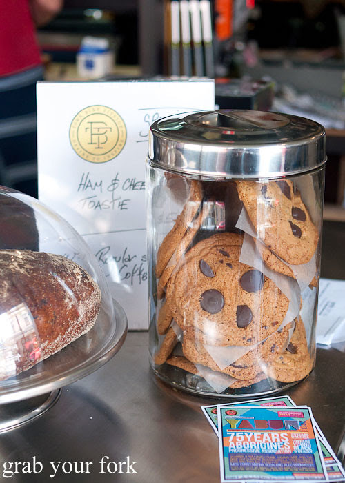 chocolate chip cookie at the town bike pitstop redfern darlington