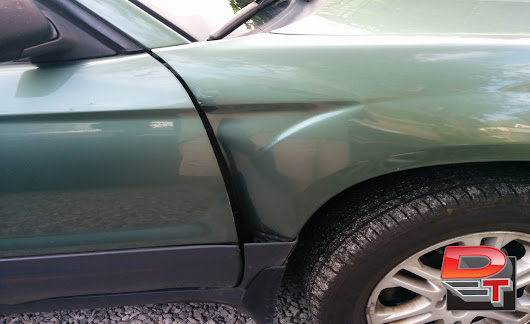 Hit and Run Dent Damage