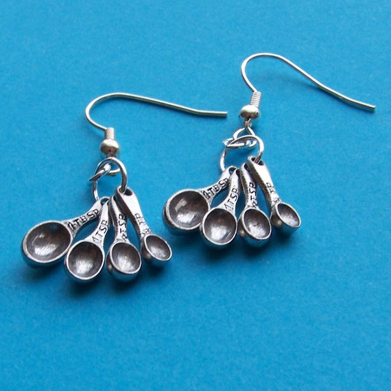 give me those earrings cupcake baking pan and tablespoon earrings for the baker 3375