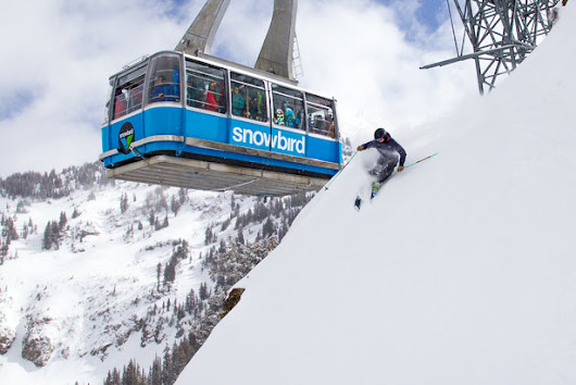 Ski Test 2014: 3 Glorious Days Ripping Snowbird, Utah - Ski Tester puttin on a show for tram riders.  - OnTheSnow