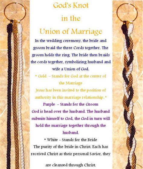 God's Knot Ceremony   Wedding ideas   Pinterest   Be cool