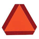 SMV 2-Ch Slow Moving Vehicle Sign, Steel