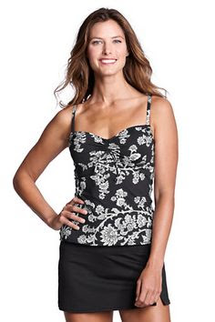 Women's Beach Living Floral Paisley Adjustable Scoopneck Tankini Top from Lands' End