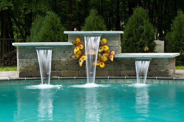 Waterfalls and Water Features - modern - swimming pools and spas ...