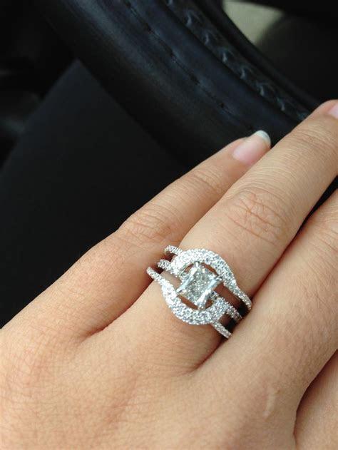 Halo Ring: Halo Ring Wrap Enhancer   Rings   Heart wedding