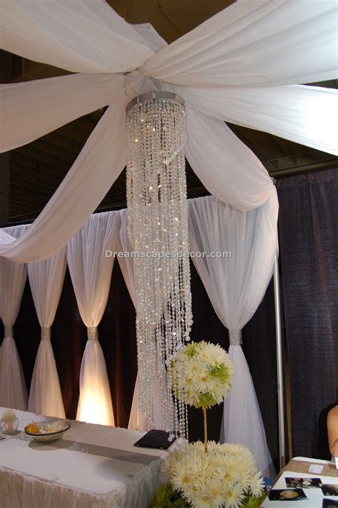 Ceiling Drape (open canopy)   By Dreamscape Event Decor