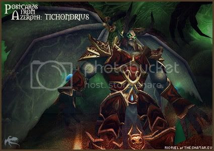 Postcards of Azeroth: Tichondrius, by Rioriel Ail'thera of theshatar.eu