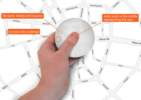 GPS handset for the visually impaired