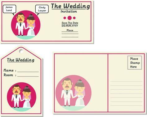 Wedding invitations die cut template free vector download
