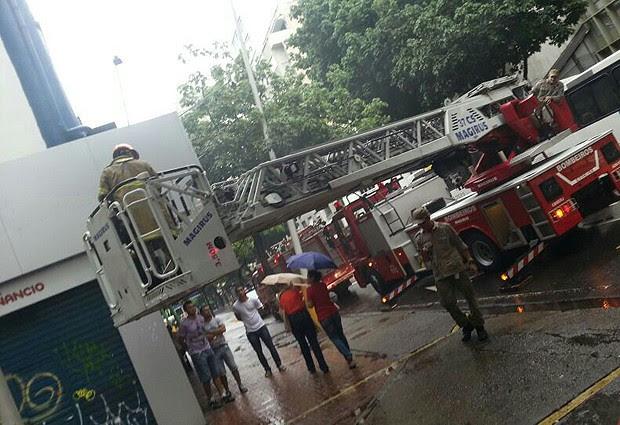 O Corpo de Bombeiros foi acionado por volta de 10h30. (Foto: Luciana Andreatta / Arquivo Pessoal)