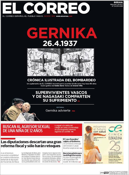 Extra! Remembering Guernica In Basque Newspaper