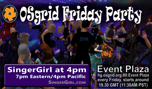 SingerGirl @ Event Plaza, OpenSim Today!