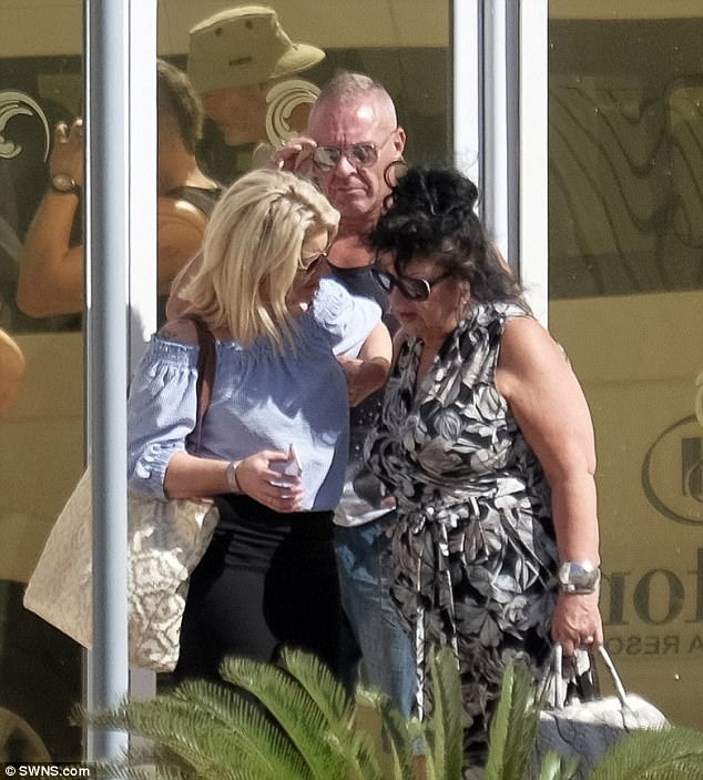 Anxious: The family of Laura Plummer, a British holidaymaker jailed in Egypt, fear they'll have to leave her alone in a 'hellhole' jail after she appears in court on Saturday. Pictured: Ms Plummer's mother Roberta (right), sister Jayne Sinclair (left) and brother Kirk at their hotel