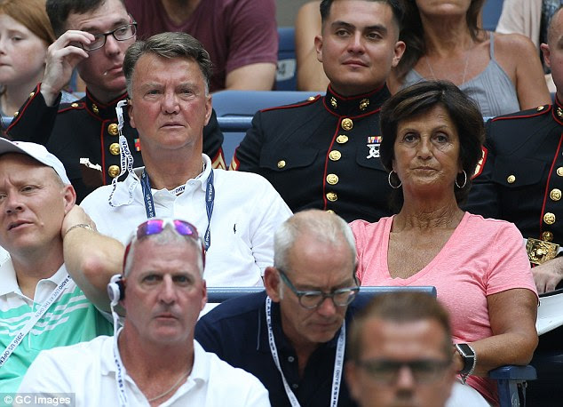Louis van Gaal was spotted in the crowd at the women's US Open final