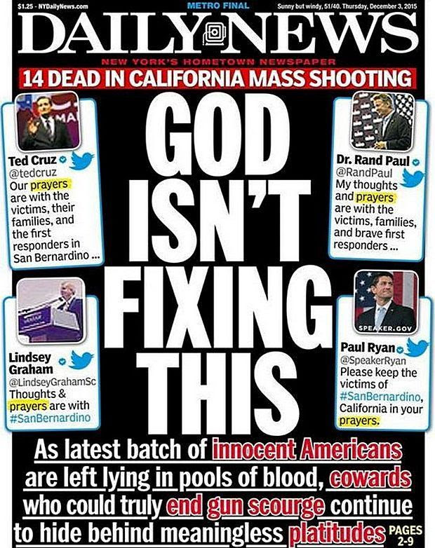 After America's latest mass shooting, NY Daily News takes aim at ...