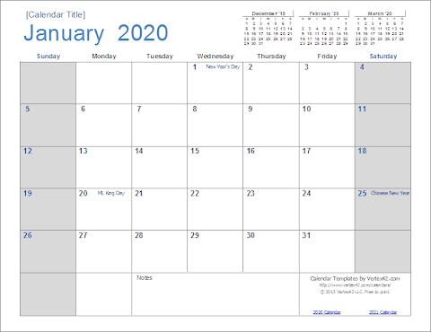 2020 Calendar Uk Template Word