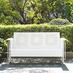 Crosley Bates Glider Sofa in White