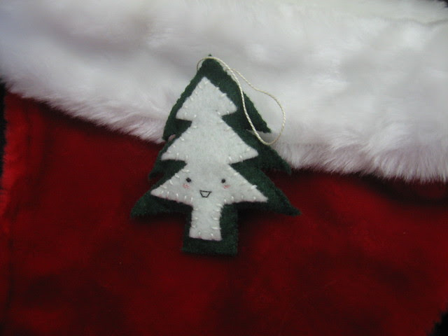 Happy Pine Tree Ornament