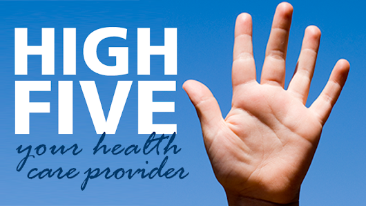 High five your health care provider – December 7, 2018