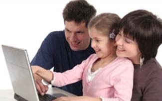 pai, mãe e filha