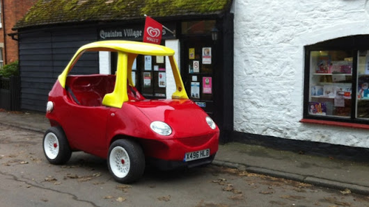 Adult-size Cozy Coupe hits the road